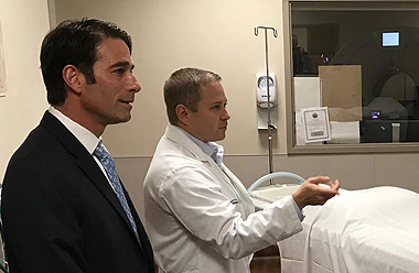 Congressman Graves tours radiology department